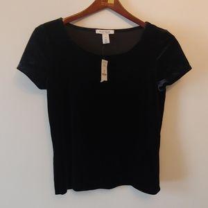 4/$25 White House Black Market Velvet Short Sleeve